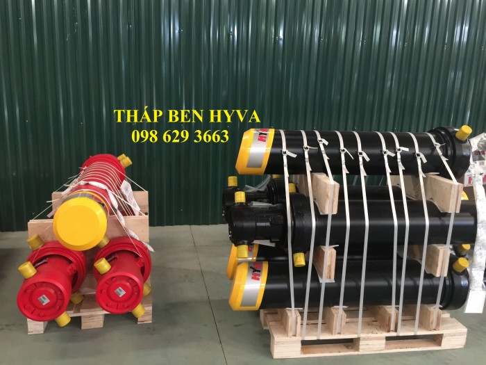 Tháp ben HYVA, xy lanh thủy lực HYVA, trụ ben HYVA, ben đầu HYVA
