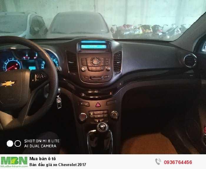 Bán đấu giá xe Chevrolet 2017