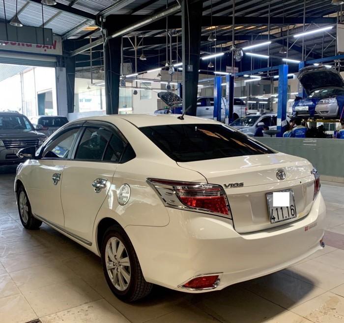 Vios E 2017, màu trắng, xe đẹp lung ling, giao dịch tại hãng