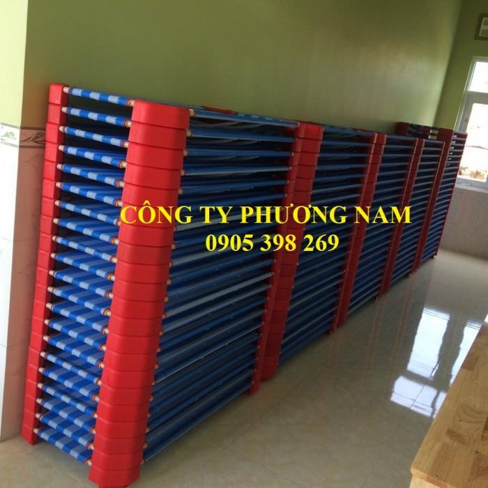 Giường lưới mầm non giảm giá kịch sàn