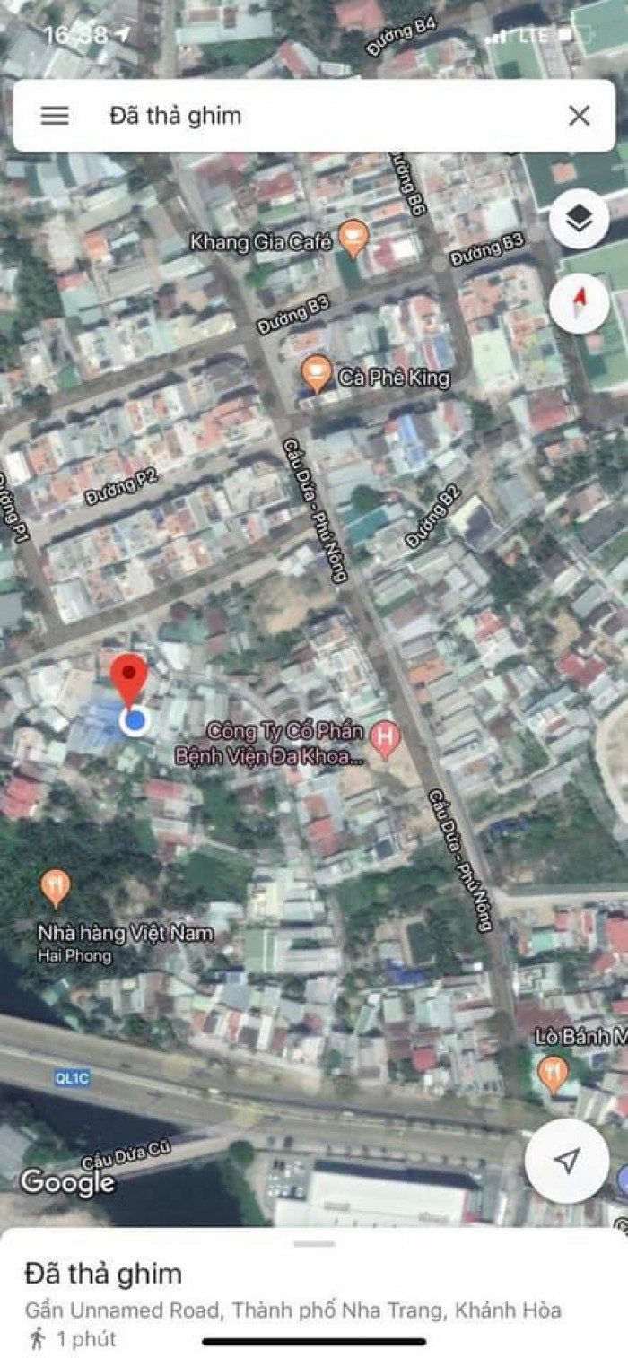 Bán nhà đường Cầu Dứa Phú Nông, khu vực Vĩnh Điềm Trung tp Nha Trang , cách 23/10 chỉ 300m