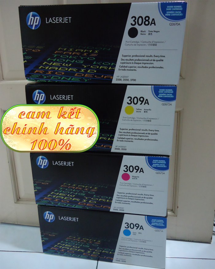 Hộp mực in chính hãng HP Color 308_309A (Q267A)7