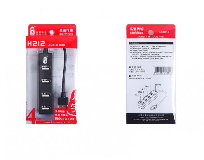Hub USB 4 Port Kawau USB H212 Hỗ Trợ Tốc Độ Đến 480Mbps (Siêu Hot)6