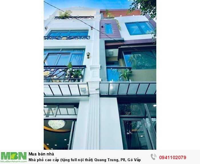 Nhà phố cao cấp (tặng full nội thất) Quang Trung, P8, Gò Vấp