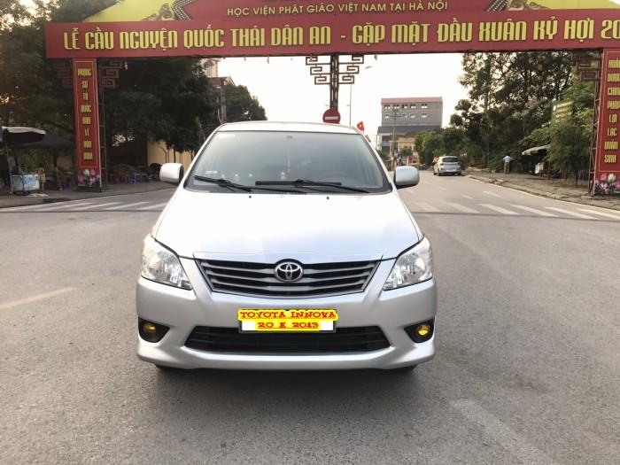 Cần bán Toyota Innova 2.0E năm sản xuất 2013, màu bạc. Xe k lỗi nhỏ! 20