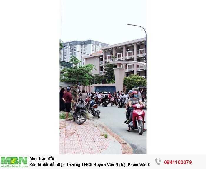 Bán lô đất đối diện Trường THCS Huỳnh Văn Nghệ, Phạm Văn Chiêu, P14, Gò Vấp