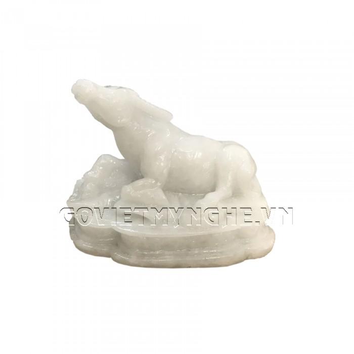 Tượng Đá Trang Trí Trâu Phong Thủy - Đá Non Nước - Kích thước: Dài 10 cm x Rộng 6cm x Cao 8cm . Giá : 150.000₫0