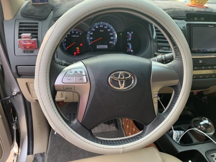 Bán Toyota Fortuner V 2.7AT màu bạc máy xăng số tự động sản xuất 2015 biển tỉnh đi 56000km