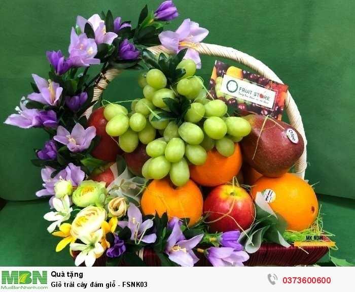 Giỏ trái cây phúng điếu - FSNK032
