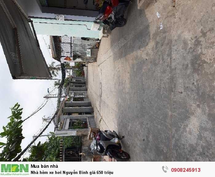 Nhà hẻm xe hơi Nguyễn Bình giá 650 triệu