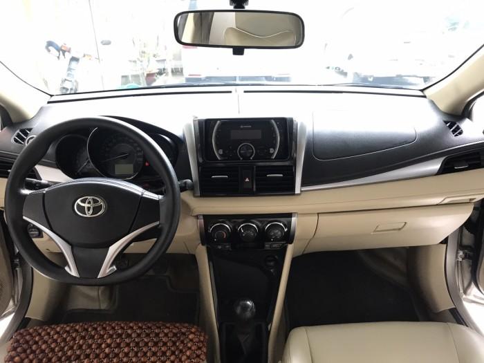 Bán Toyota Vios 1.5E MT đời 2017, màu nâu vàng. Xe Tuyển Siêu Lướt
