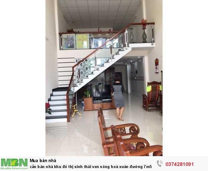 Cần bán nhà khu đô thị sinh thái ven sông Hoà Xuân đường 7m5