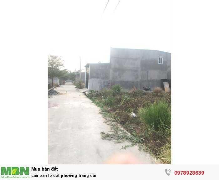 Cần bán lô đất phường Trãng Dài