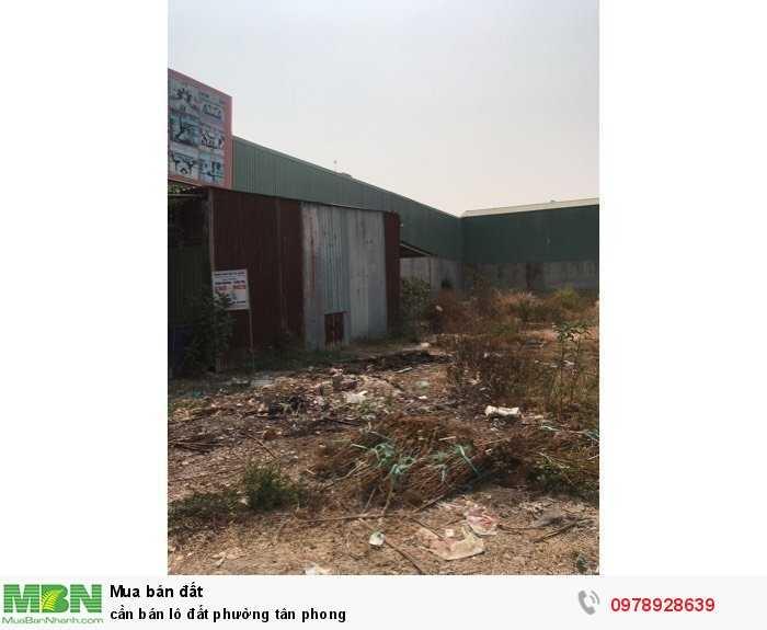 Cần bán lô đất phường Tân Phong