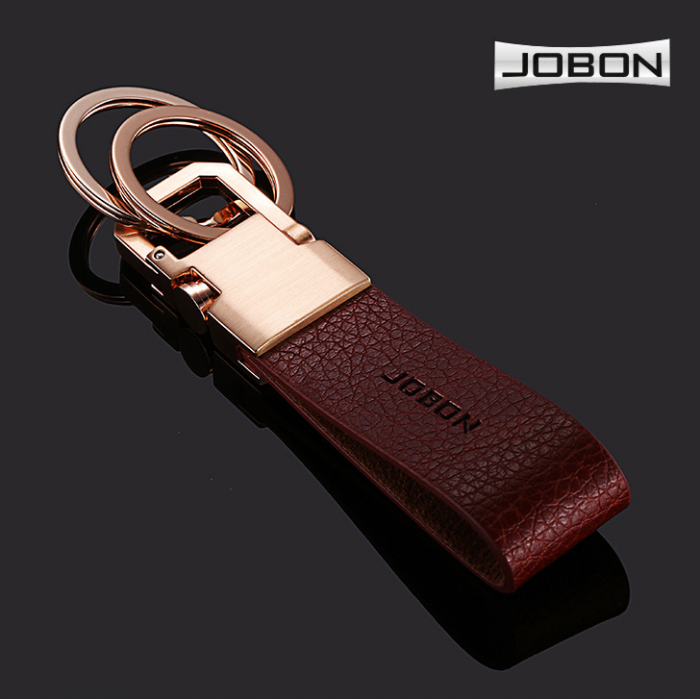 Móc Chìa Khóa Da Cao Cấp Jobon Car Keychain (Hot) 6