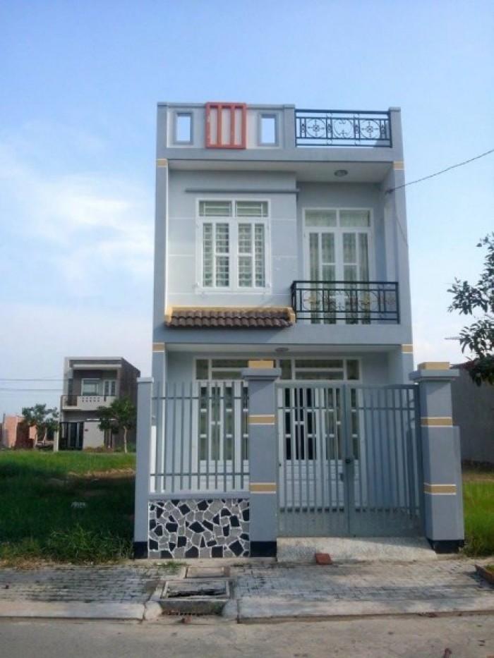 Nhà mới xây 1 trệt 1 lầu, 2PN 2WC đường Đinh Đức Thiện.