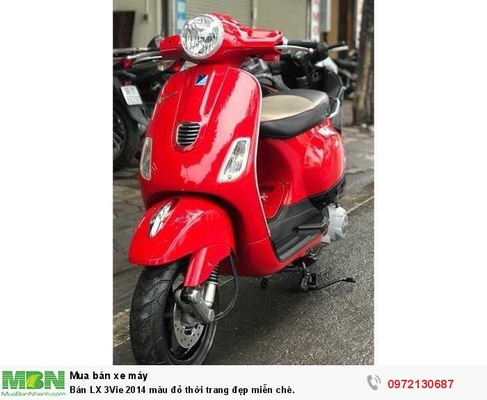 Bán LX 3Vie 2014 màu đỏ thời trang đẹp miễn chê.