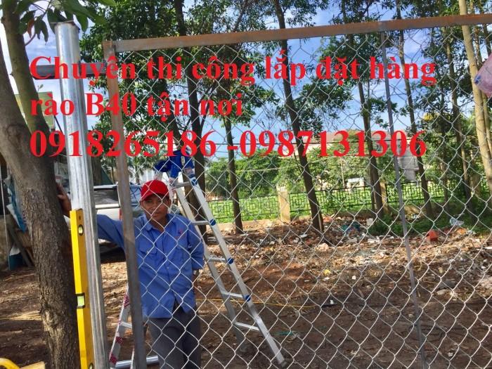 Hàng rào lưới thép b40 mạ kẽm, b40 bọc nhựa2