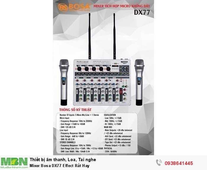 Mixer Karaoke Mini Bosa DX77 Effect Rất Hay0