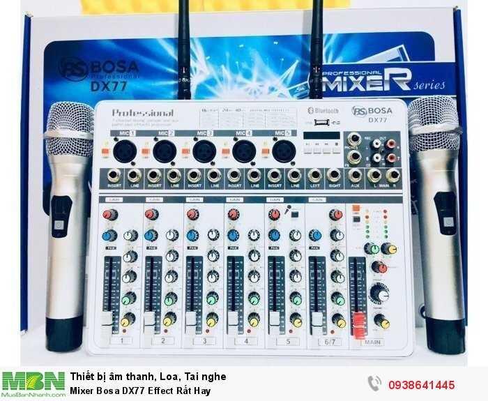 Mixer Karaoke Mini Bosa DX77 Effect Rất Hay1