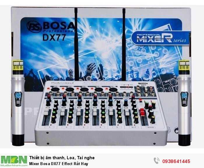 Mixer Karaoke Mini Bosa DX77 Effect Rất Hay2