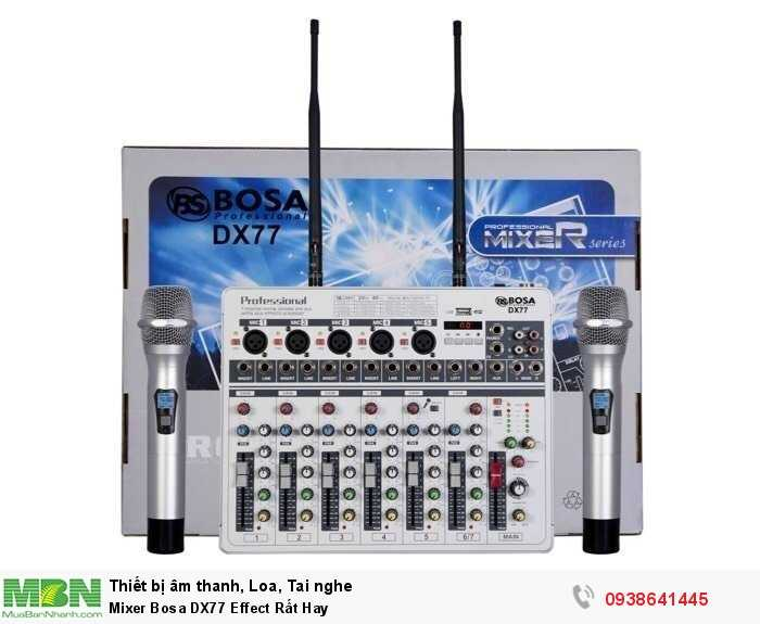 Mixer Karaoke Mini Bosa DX77 Effect Rất Hay3