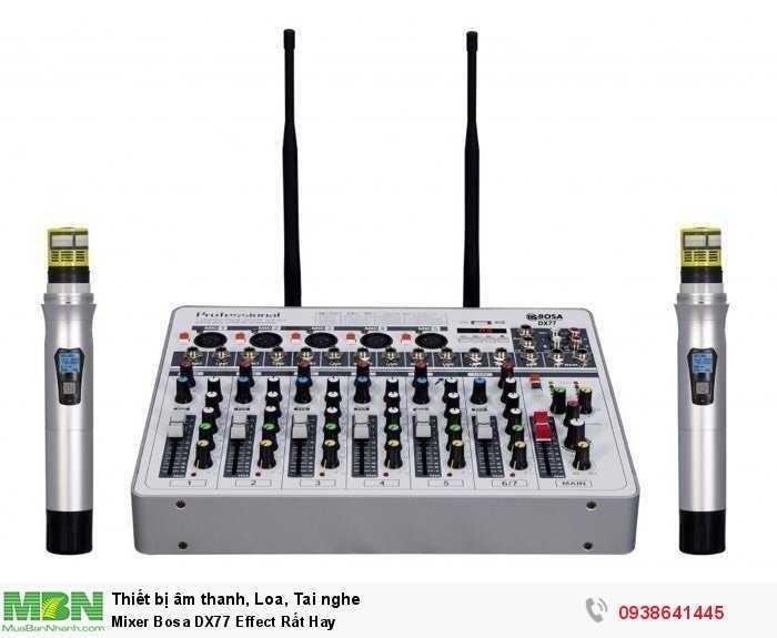 Mixer Karaoke Mini Bosa DX77 Effect Rất Hay4