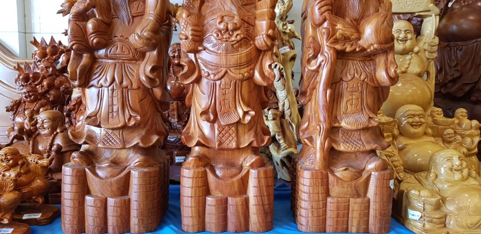 Tượng Tam Đa gỗ hương cao cấp0