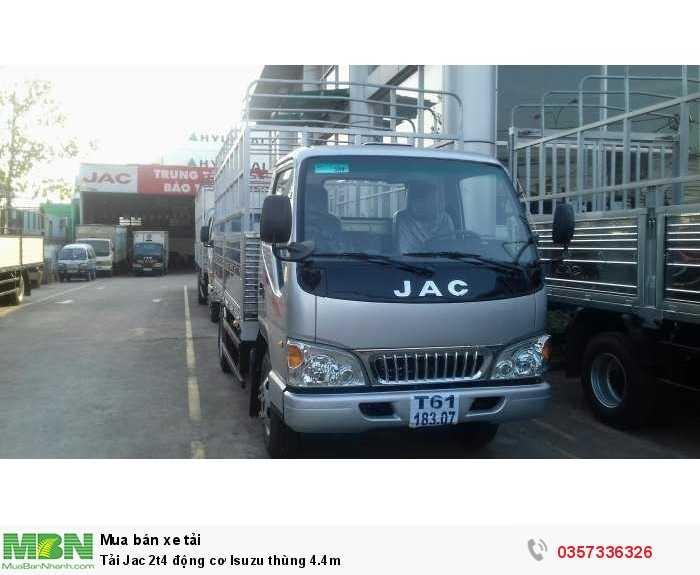 Tải Jac 2t4 động cơ Isuzu thùng 4.4m