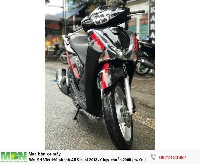 Bán SH Việt 150 phanh ABS cuối 2018- Chạy chuẩn 2000km- Quá Mới