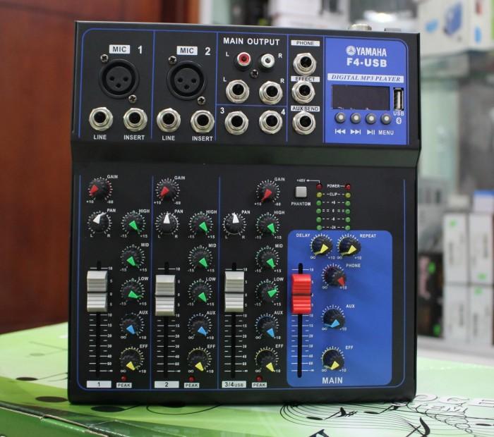 Mixer karaoke bluetooth YAMAHA F4-USB mẫu mã đẹp nhỏ gọn2