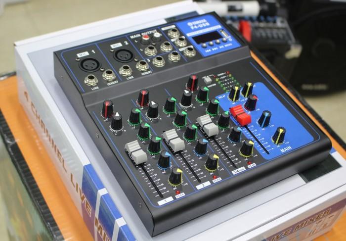 Mixer karaoke bluetooth YAMAHA F4-USB Không kén amply, phù hợp với tất dàn âm thanh hiện nay3