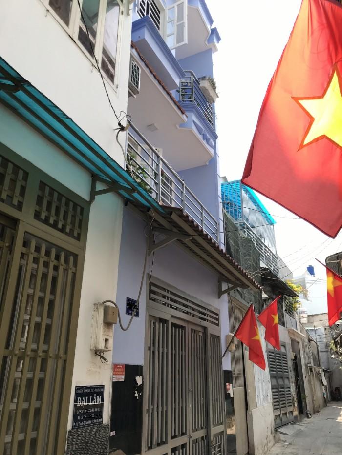 Bán gấp căn nhà hẻm Tây Thạnh, Tân Phú. DT 4 x 10. 2 lầu.