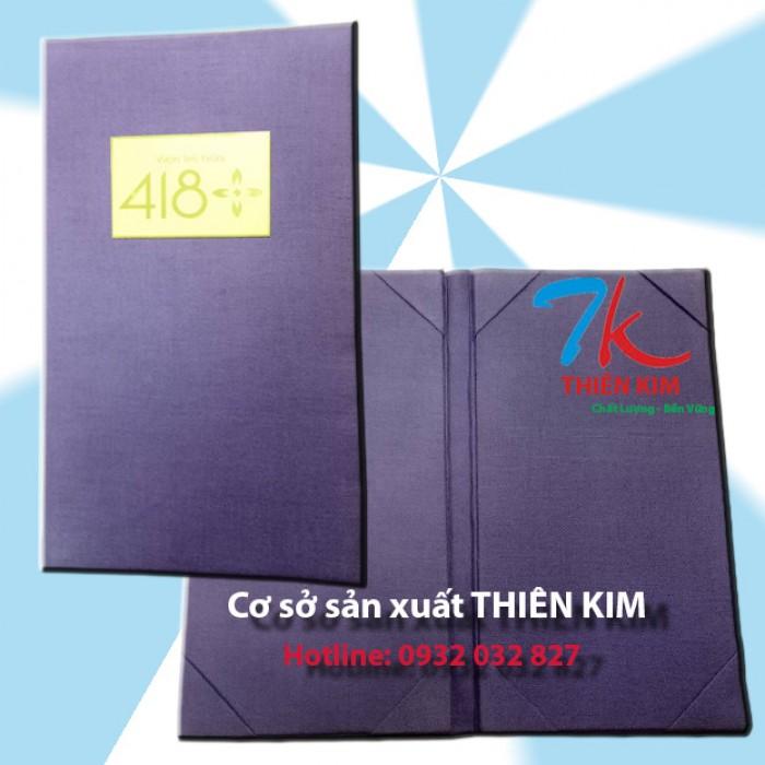 Nơi sản xuất bìa menu da, bìa menu vải, sản xuất bìa menu theo yêu cầu,2