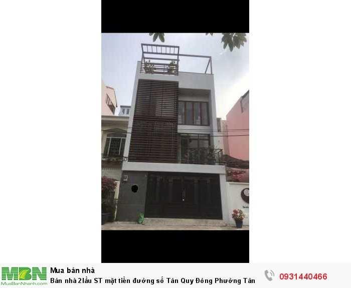 Bán nhà 2 lầu ST mặt tiền đường số Tân Quy Đông Phường Tân Phong Quận 7
