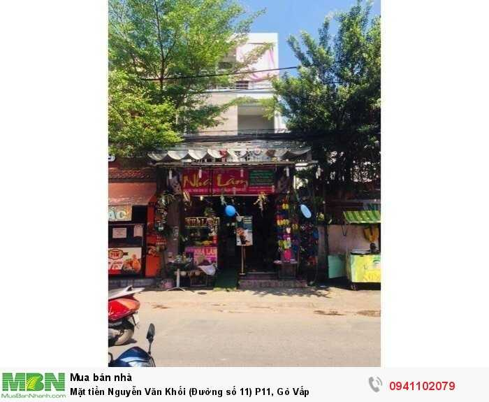 Mặt tiền Nguyễn Văn Khối (Đường số 11) P11, Gò Vấp