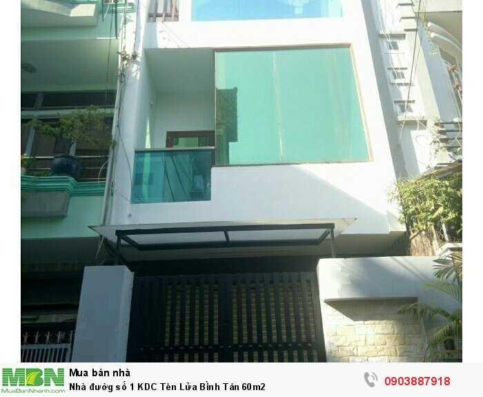 Nhà đườg số 1 KDC Tên Lửa Bình Tân 60m2