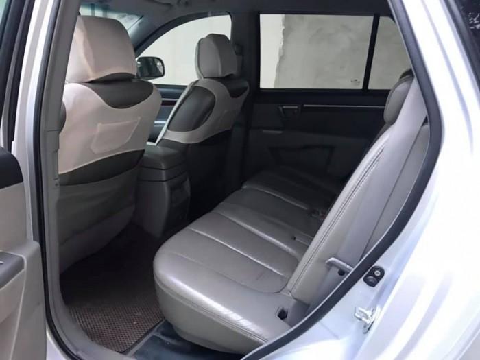 Cần tiền gấp bán xe Santafe 2009, số tự động, màu bạc, máy xăng hai cầu
