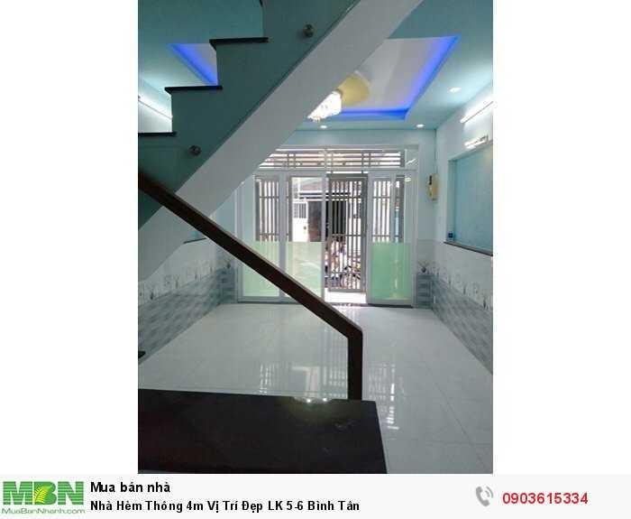 Nhà Hèm Thông 4m Vị Trí Đẹp LK 5-6 Bình Tân