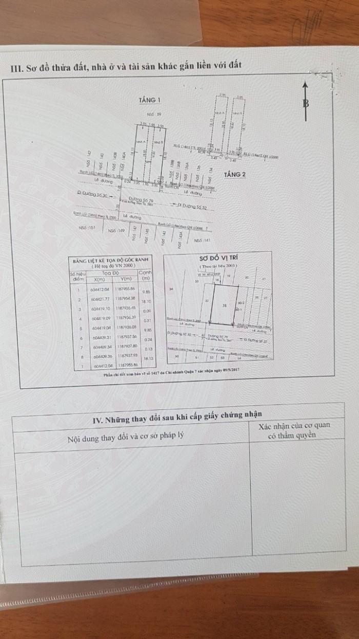 bán đất đường 79, tân Quy, 10x18,5m