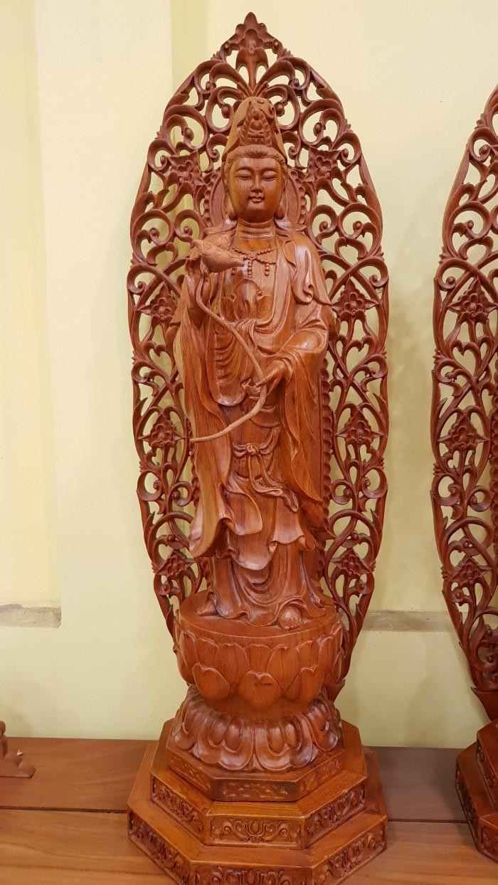 Bộ tượng tam thế phật chạm khắc sắc nét1