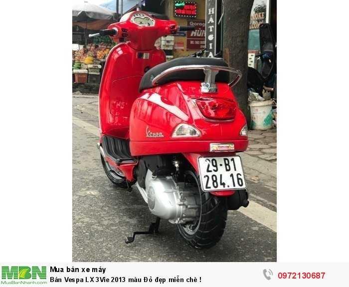 Bán Vespa LX 3Vie 2013 màu Đỏ đẹp miễn chê !
