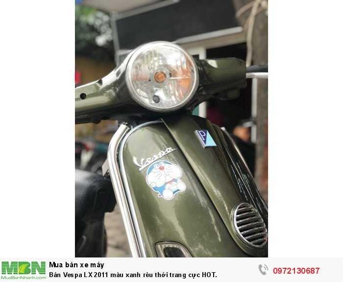 Bán Vespa LX 2011 màu xanh rêu thời trang cực HOT.