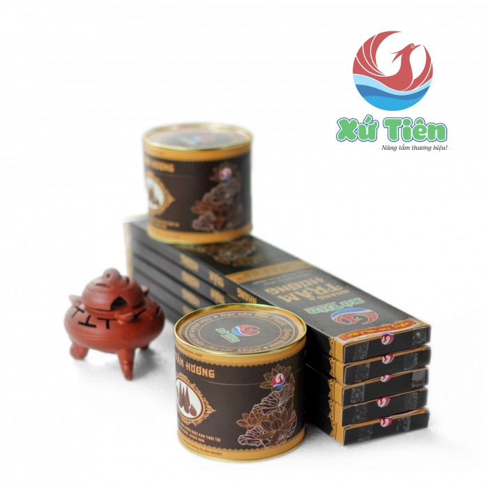 Combo 5 Hộp nhang trầm & 2 Lon nụ trầm Tiên Phước, Quảng Nam + 1 Đỉnh đất nung11