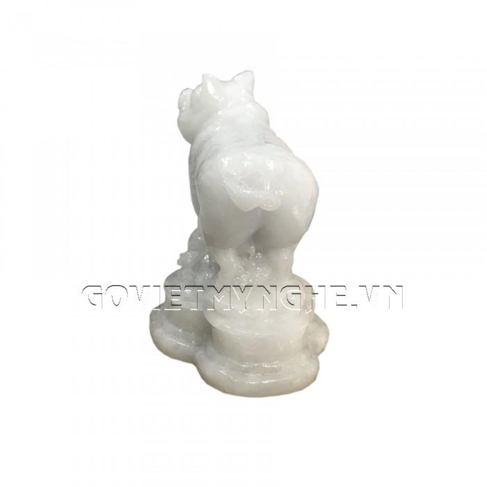 Tượng Đá Trang Trí Heo Phong Thủy - Đá Non Nước - Kích thước: Dài 10cm x Rộng 6cm x Cao 8.5cm . Giá : 150.000₫