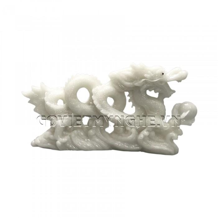 Tượng Đá Trang Trí Rồng Phong Thủy - Đá Non Nước - Kích thước: Dài 26cm x Rộng 7cm x Cao 14cm . Giá : 300.000₫3