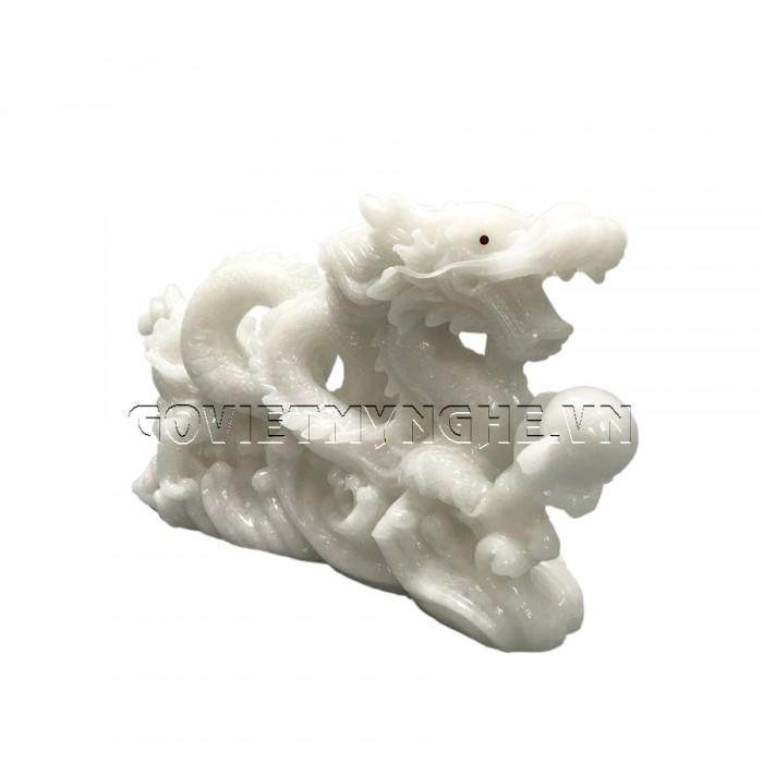 Tượng Đá Trang Trí Rồng Phong Thủy - Đá Non Nước - Kích thước: Dài 26cm x Rộng 7cm x Cao 14cm . Giá : 300.000₫1