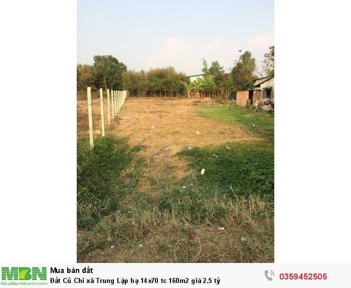 Đất Củ Chi xã Trung Lập hạ 14x70 tc 160m2