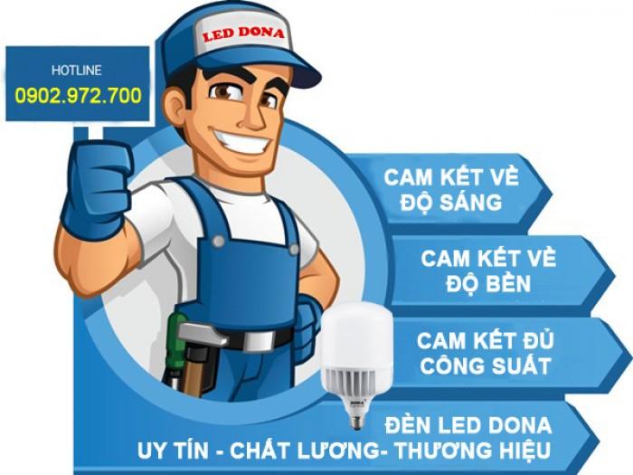 Đèn Led Búp Trụ Đế Nhôm DONA2