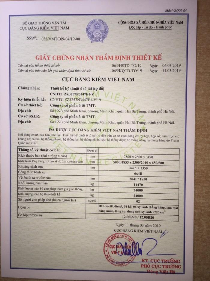 Xe ben Howo 24 tấn đời 2019
